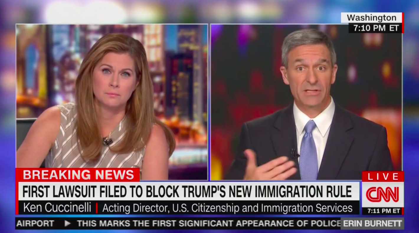 Cuccinelli Defends Twisting Statue of Liberty Poem: Original Referenced 'People Coming from Europe Where They Had Class-Based Societies'
