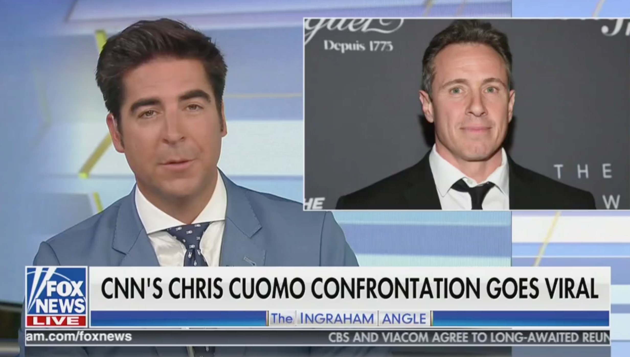 Jesse Watters Accuses Chris Cuomo, CNN of 'Hypocrisy' Over Bar Encounter: They Support Maxine Waters, Antifa