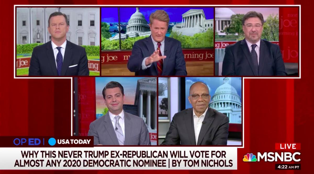 Morning Joe Panel Pans Noah Rothman For Likening Trump's 'Racial Agitation' to Warren: 'Breathtaking' False Equivalency