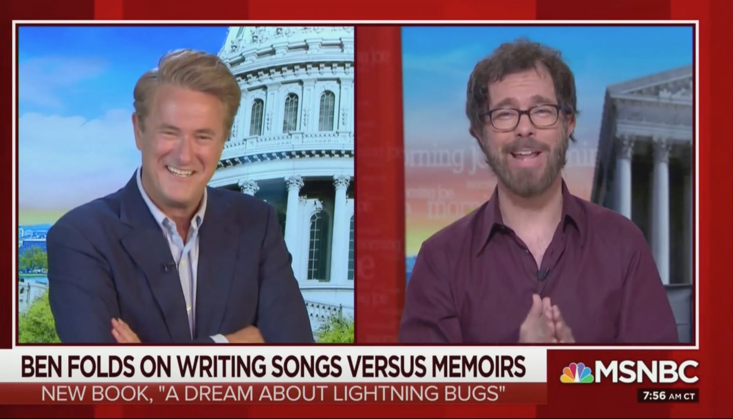 Joe Scarborough Coos Over Praise From Ben Folds for Coining 'Moscow Mitch': 'Been Writing Songs Since I Was 12 or 13'