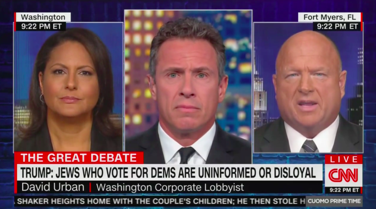 Chris Cuomo Grills Republican CNN Commentator on Trump's Comments: So Are Jewish Dems 'Dumb or Disloyal?!'