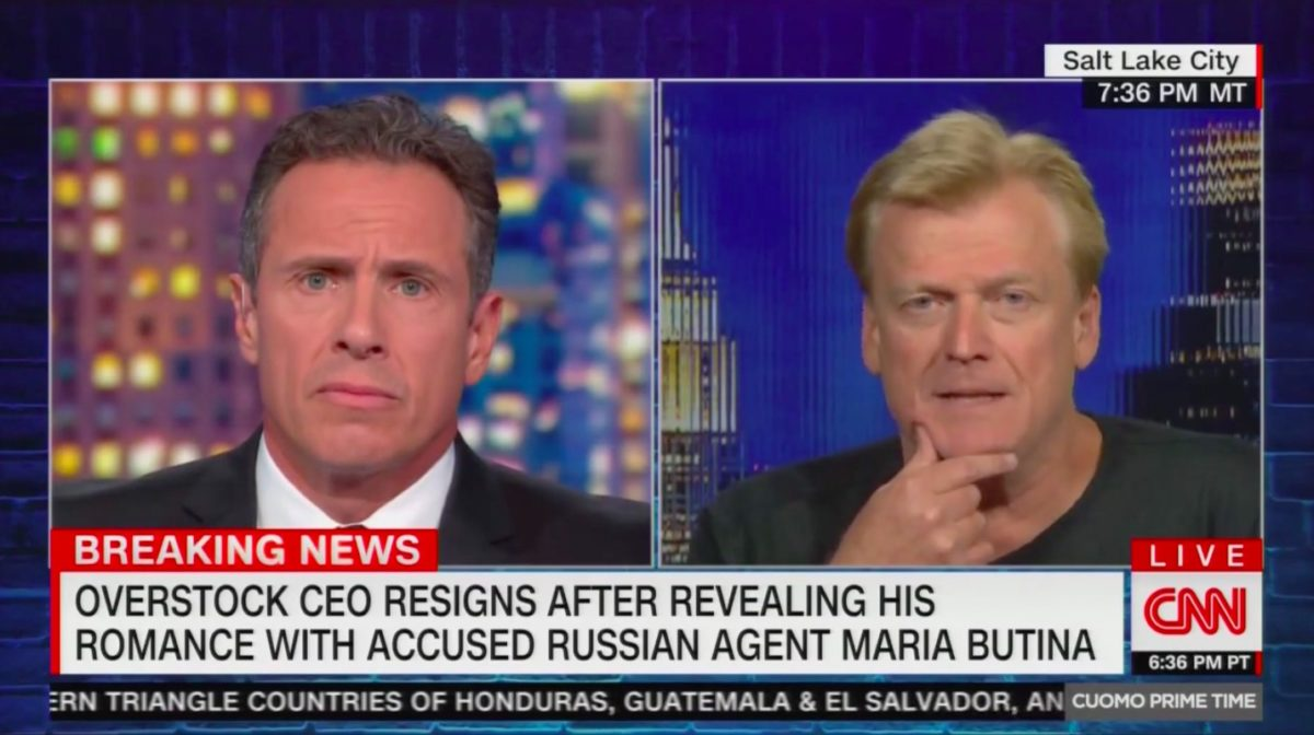 Overstock's Ex-CEO Stuns CNN's Chris Cuomo: FBI Told Me to Have a Sexual Relationship With Russian Spy