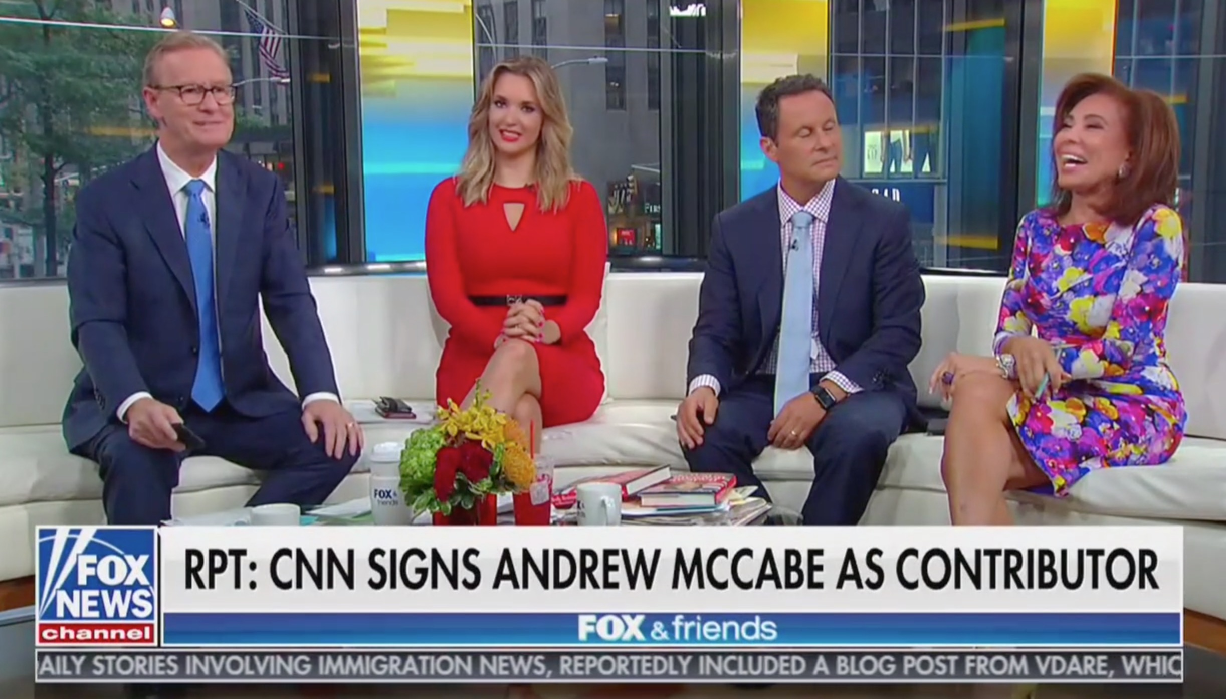 Watch Fox & Friends Laugh Out Loud at News That CNN Hired Andrew McCabe as Contributor