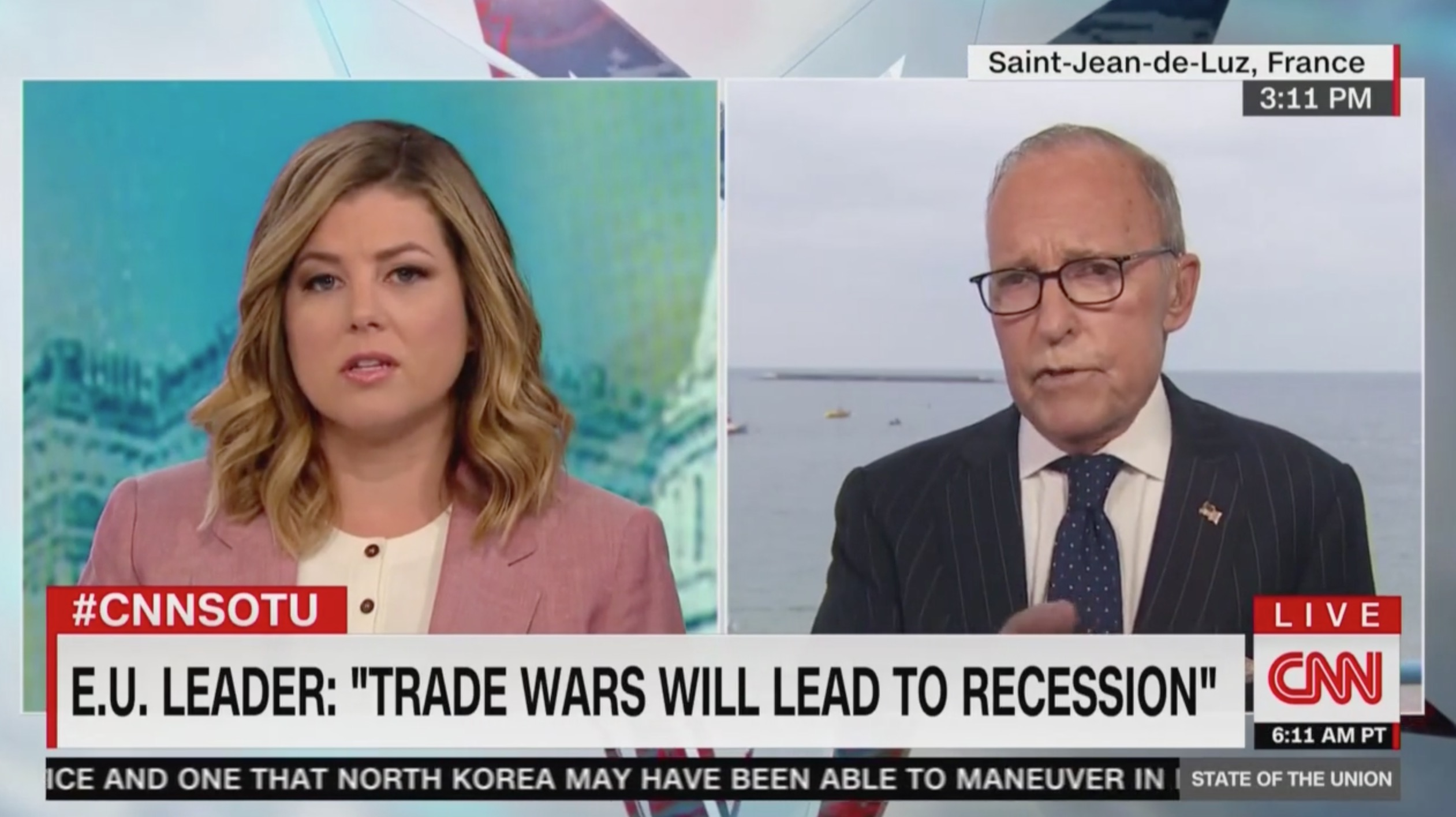 CNN's Keilar, Larry Kudlow Clash Over G7 Criticisms of Trump's Trade War: 'You're Taking It Out of Context!'