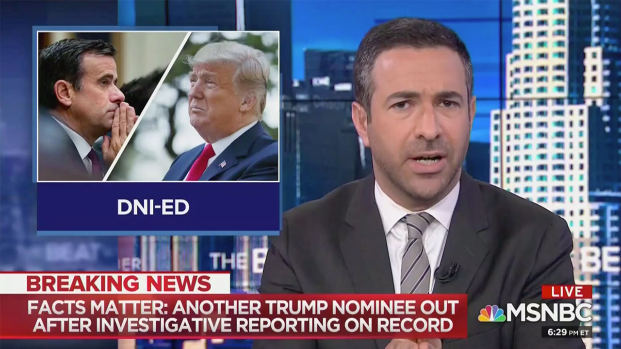 Ari Melber on Ratcliffe DNI Withdrawal: 'A Victory for Facts and for Reporting'