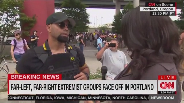 CNN Reporter Confronts Leader of Proud Boys After Portland Protest: 'I Don't Understand Why You're Showing Up?'