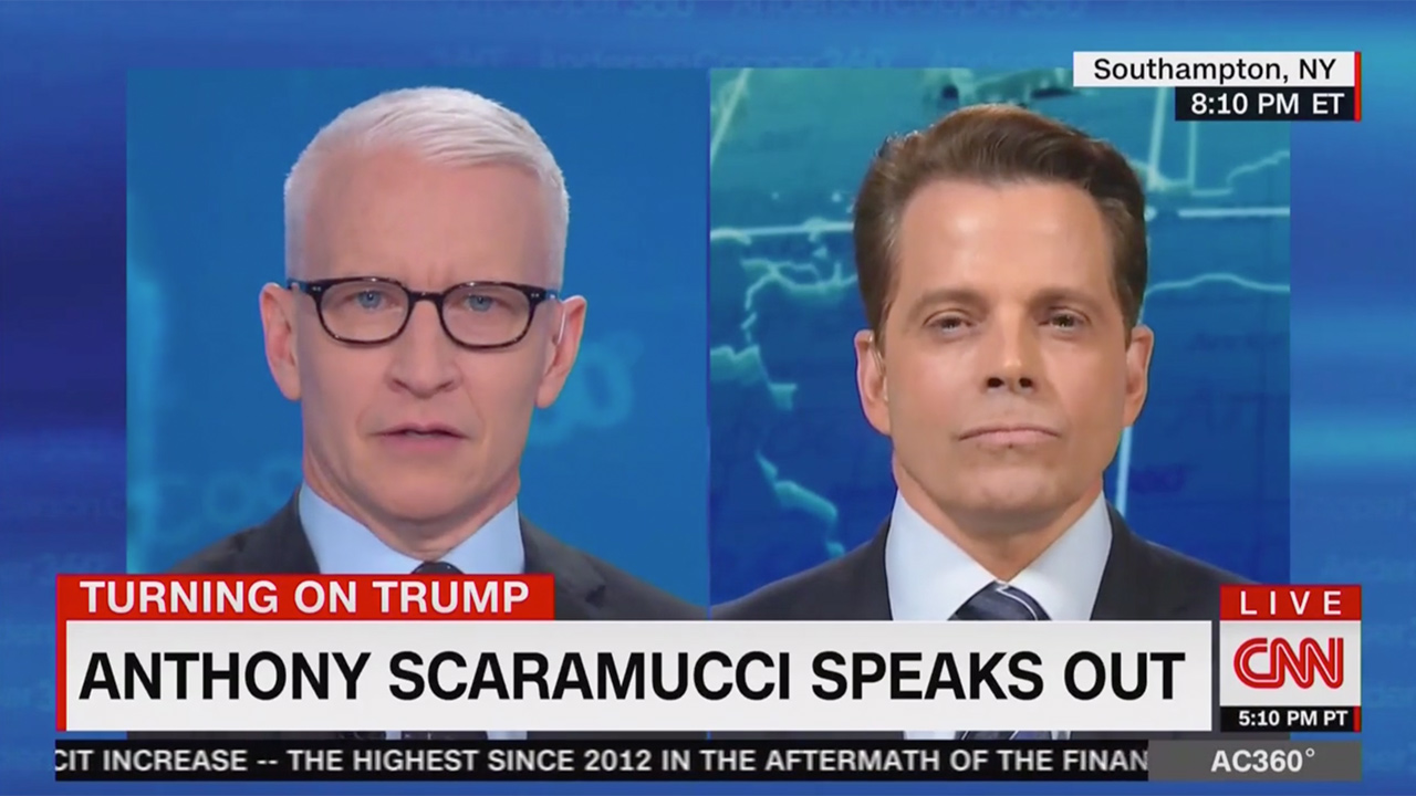 Anderson Cooper Questions Scaramucci on the Widespread Skepticism of His Turn on Trump: Why Now?