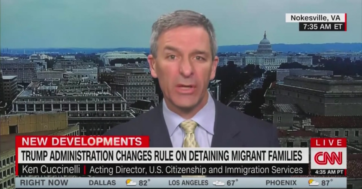 Trump Immigration Chief Ken Cuccinelli Calls Migrants 'Things Coming Across the Border'