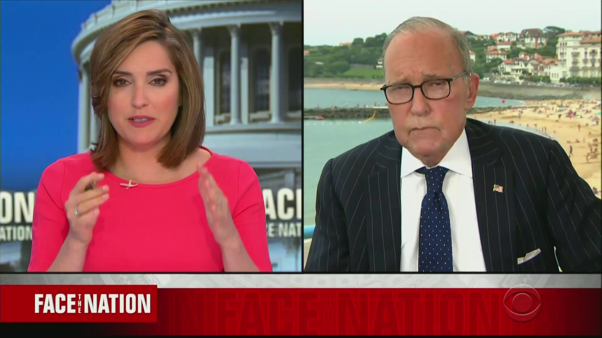 Larry Kudlow Claims President Has Power to Block Companies from Doing Business with China