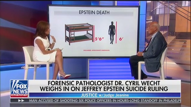 Fox's Jeanine Pirro Questions Jeffrey Epstein Autopsy Finding: 'Nothing More Than an Opinion'