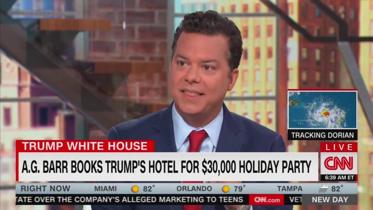CNN's John Avlon Says Bill Barr 'Undercuts the Independence' of DOJ by Booking Trump Hotel