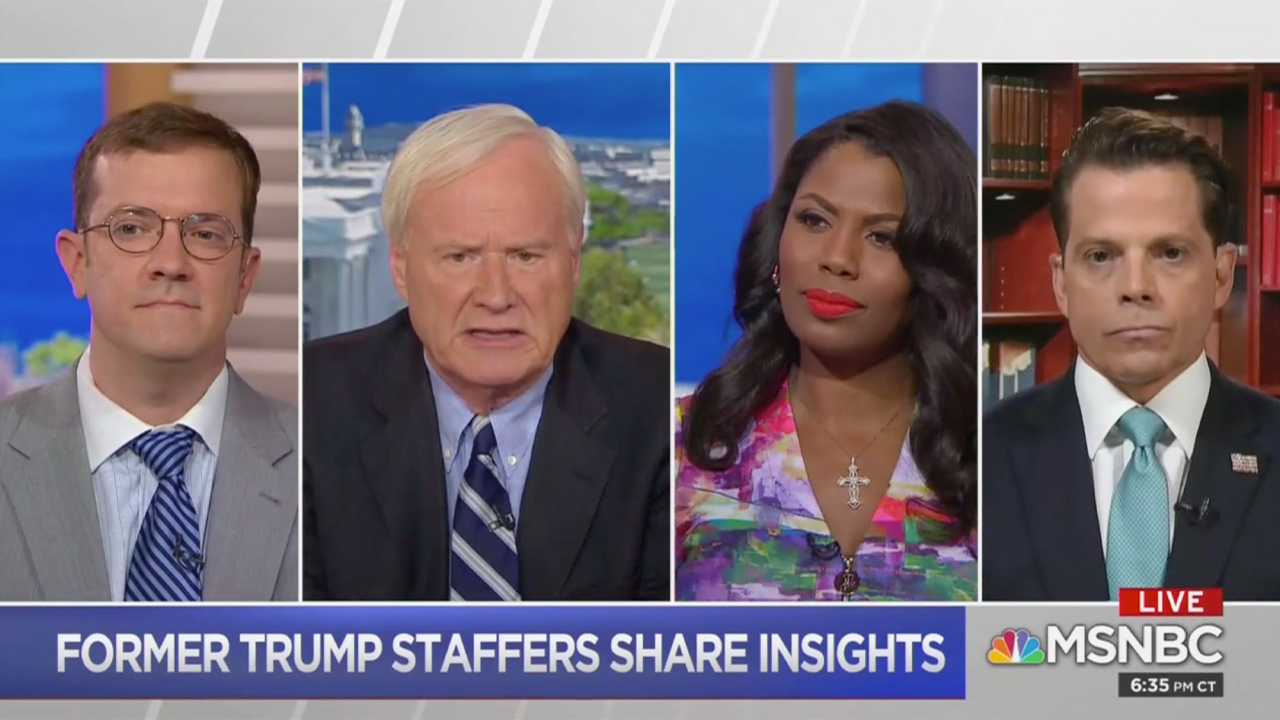 Scaramucci and Omarosa Appear Together on MSNBC to Assess Trump's 'Decline'