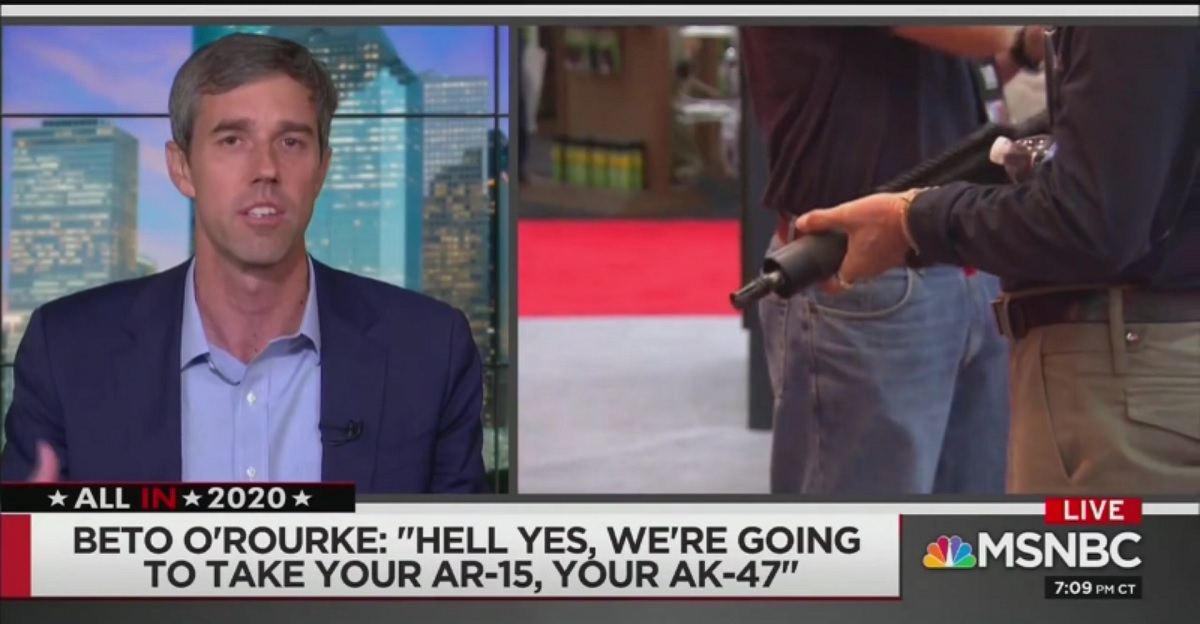 Beto O'Rourke Says He'll Take Guns Away By Not Taking Them Away: 'We Don't Go Door-to-Door'