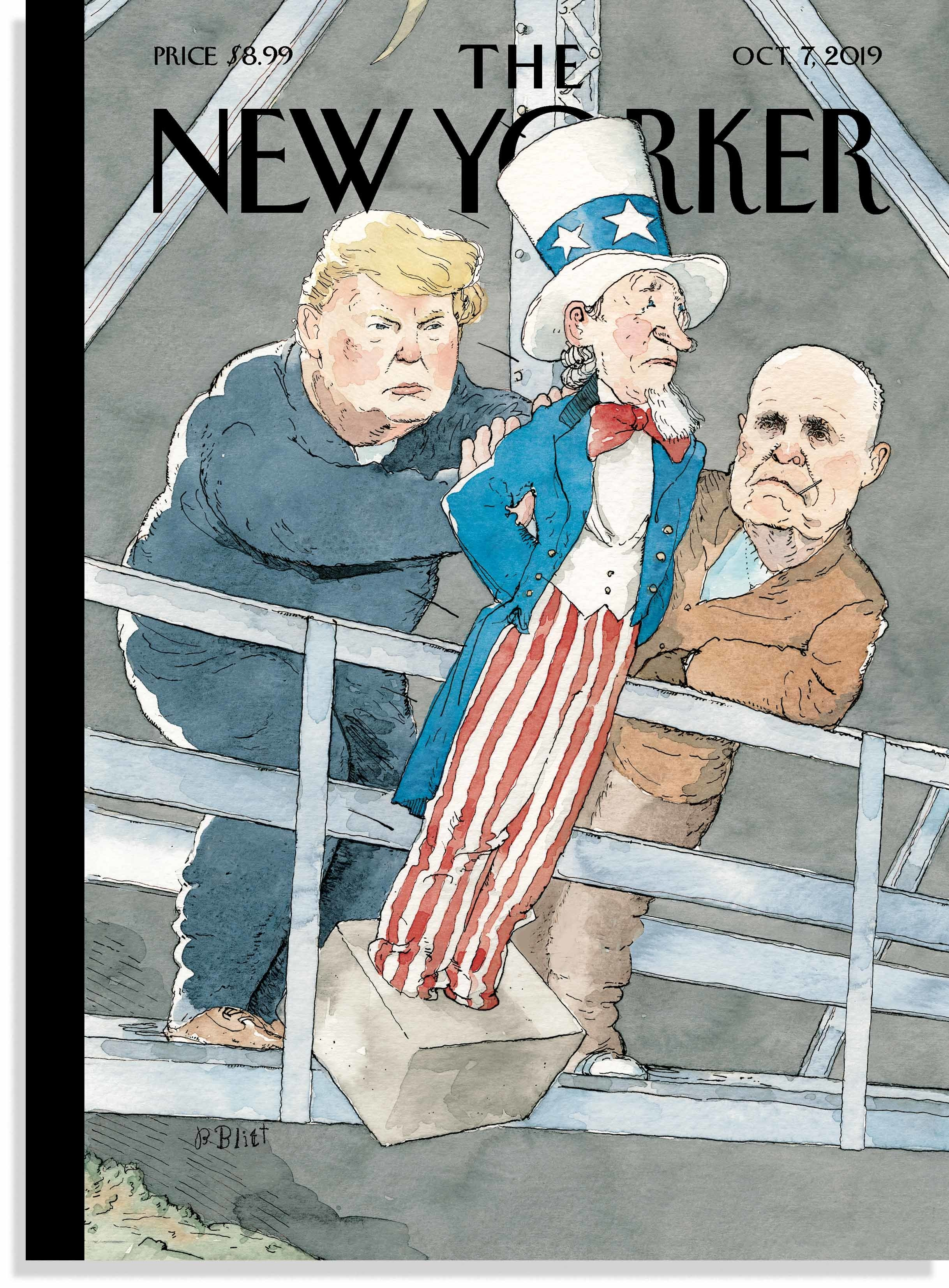 New Yorker Cover Depicts Trump and Giuliani as Mobsters Carrying Out a Hit on Uncle Sam