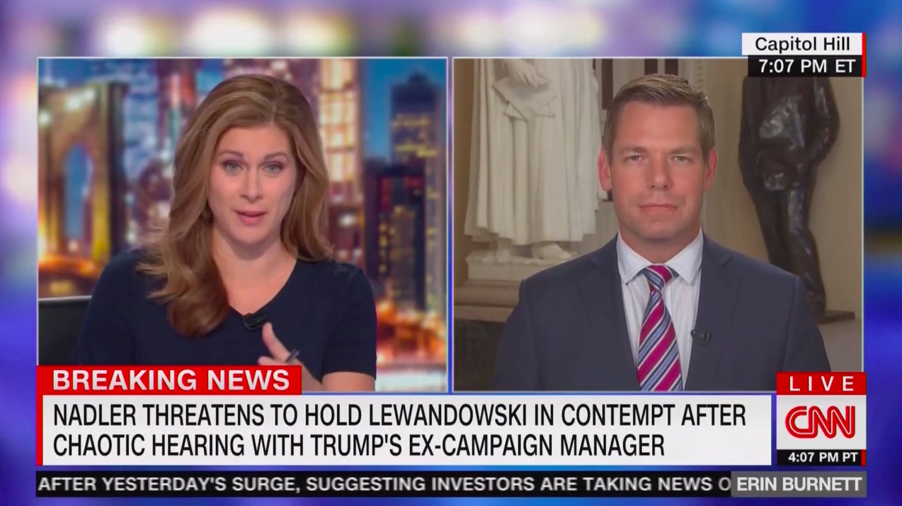 Erin Burnett Confronts Swalwell Over Chaotic, 'Depressing' Lewandowski Hearing: Did It 'Hurt Your Cause?'