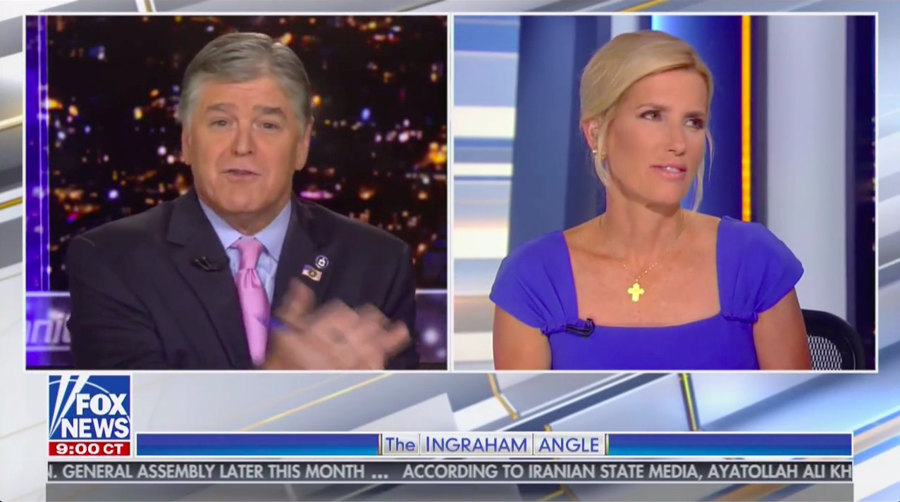 Ingraham Teases Hannity After He Complains She Cut Off Trump Rally: 'Is That the White House Speaking' or You?