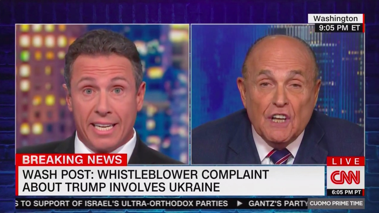 'Rudy Has Lost It Completely': Twitter Erupts Over Guiliani's Bonkers CNN Interview With Cuomo