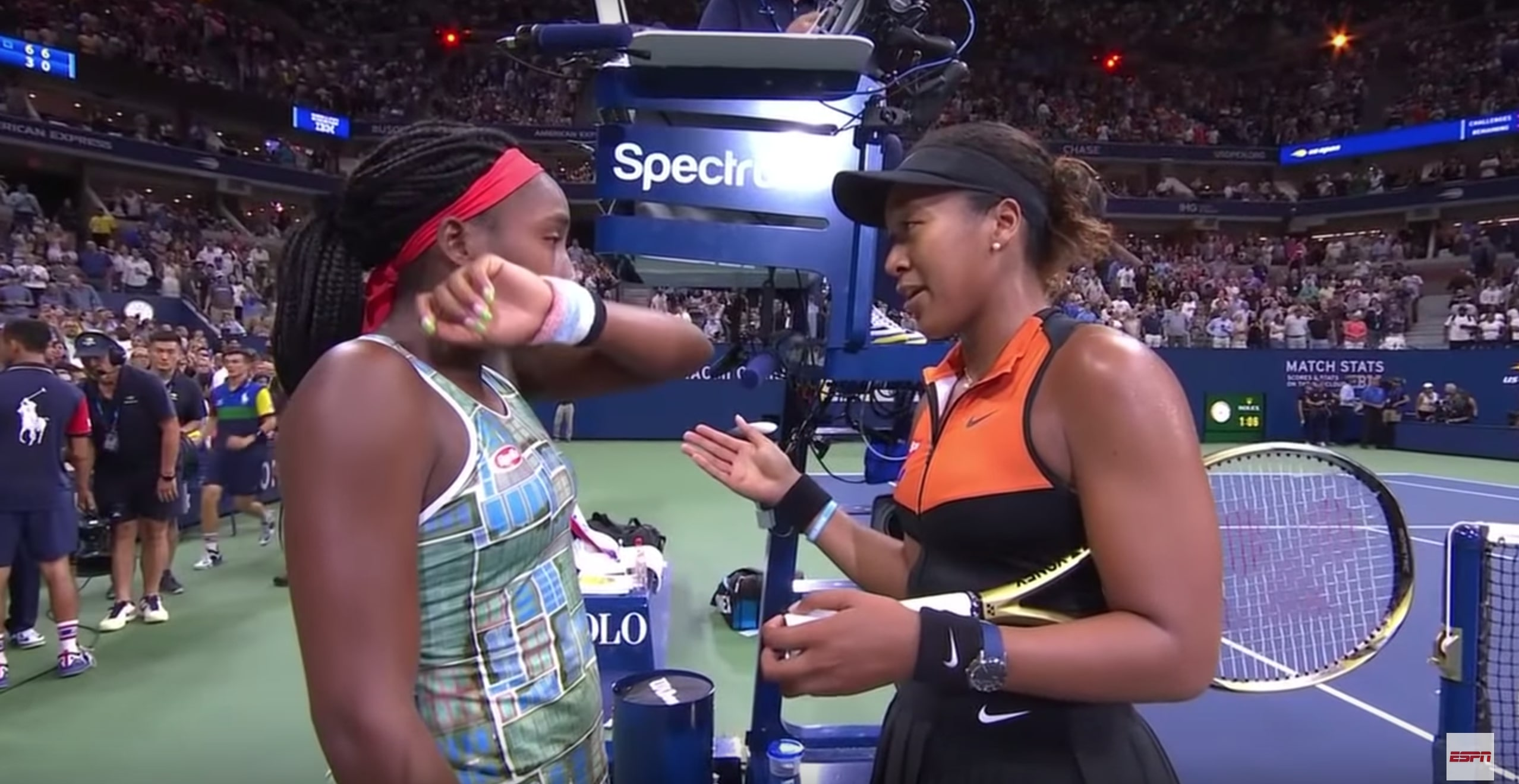 WATCH: Tennis Star Naomi Osaka Invites 15-Year-Old Phenom Coco Gauff to Join Interview After Emotional U.S. Open Match