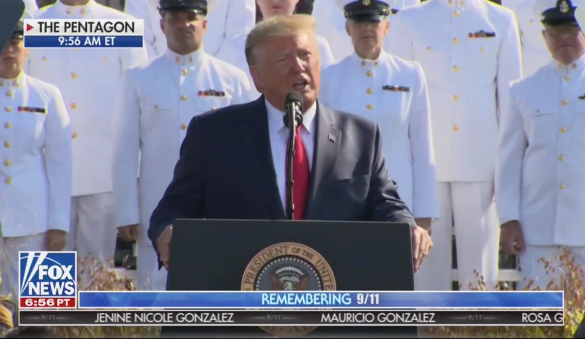 Trump Opens 9/11 Remarks With Personal Memory: 'I Was Sitting at Home Watching a Major Business Television Show'