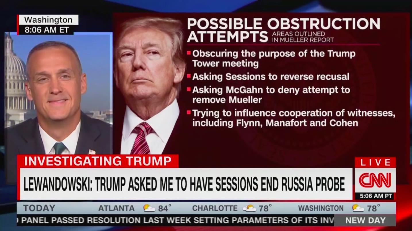 CNN's Camerota Confronts Corey Lewandowski With Mueller Report Details After He Admits He Hasn't Read It