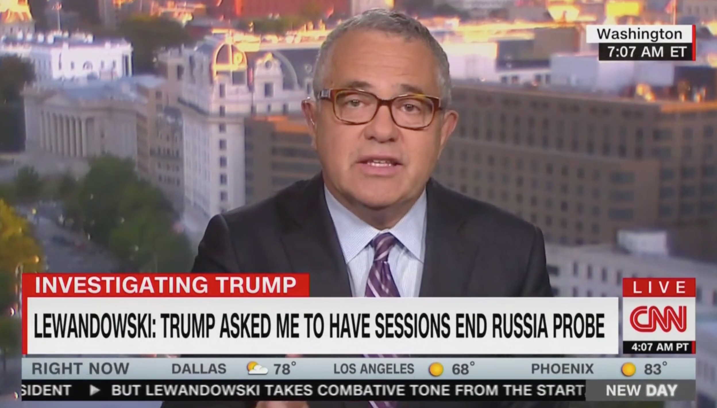 CNN's Jeffrey Toobin: Trump's Orders to Lewandowski 'Clear Evidence of Obstruction' and Corey 'Knew It'