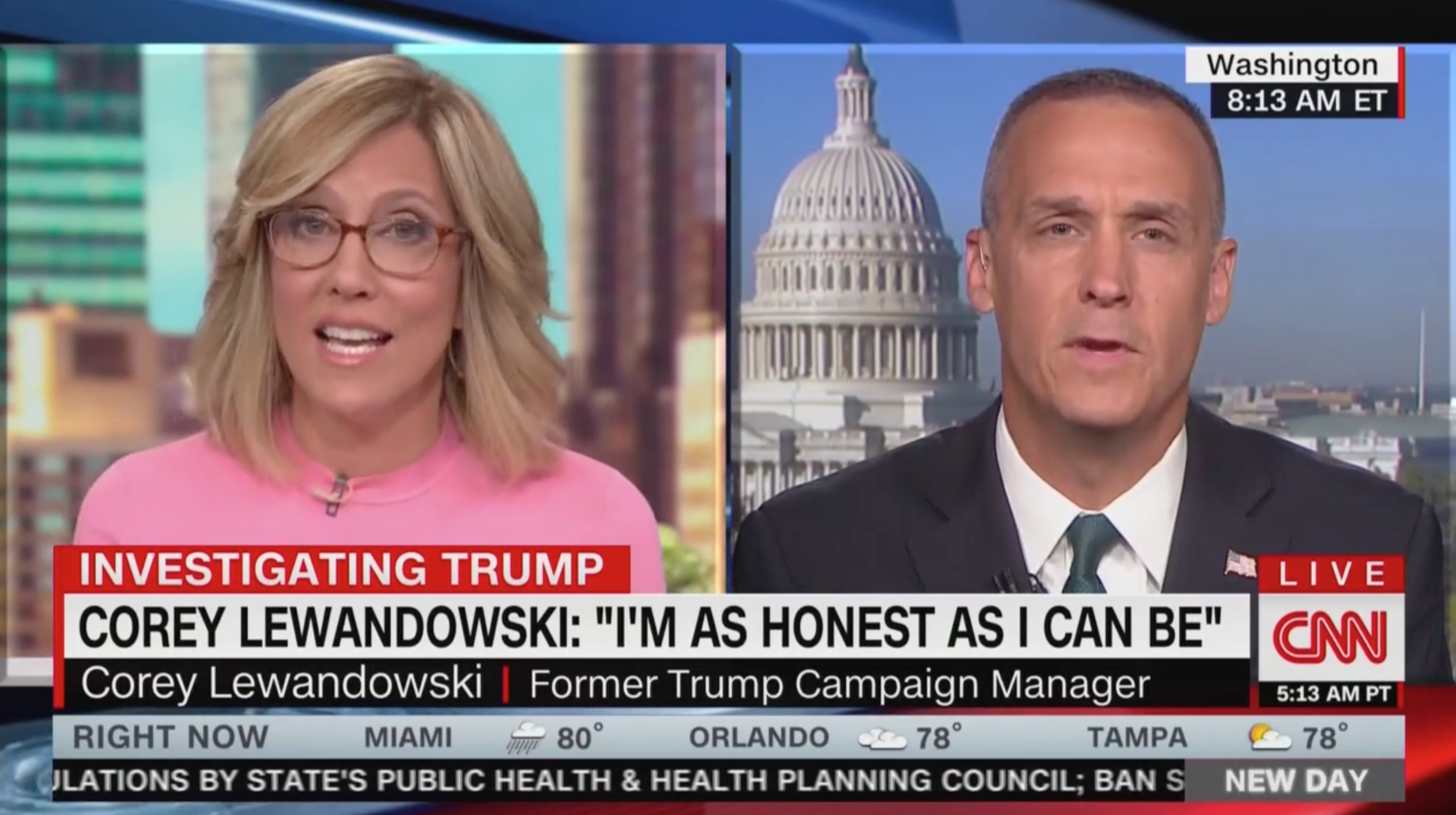 Corey Lewandowski Erupts When Alisyn Camerota Confronts His Lying to Press: 'Are You a Journalist or Talking Head!?'