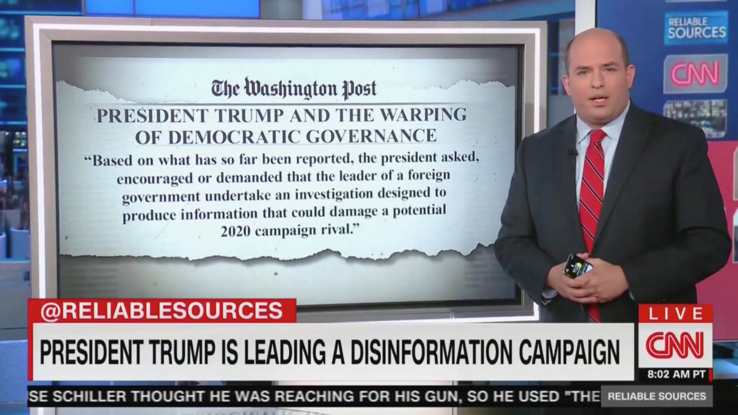 CNN's Stelter Rips Trump Defenders Over Whistleblower Report: They 'Will Do Anything' to Deny and Deflect