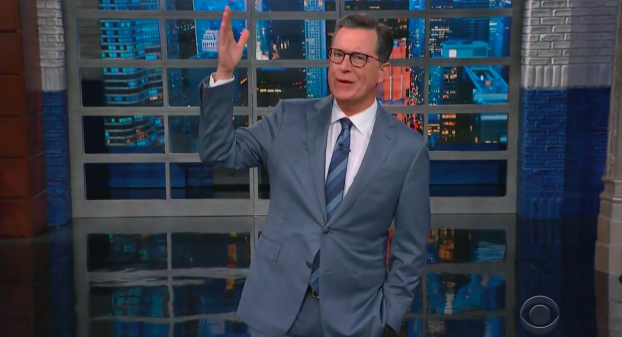 Stephen Colbert Mocks Trump as 1930s Movie Villain For Bizarre, 'Dastardly Things' Threat Toward Iran