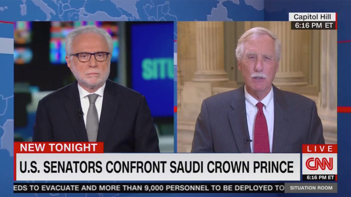 Sen. Angus King, After Confronting MBS on Khashoggi Murder: 'Likely' He Ordered It But 'I Don't Know' for Certain