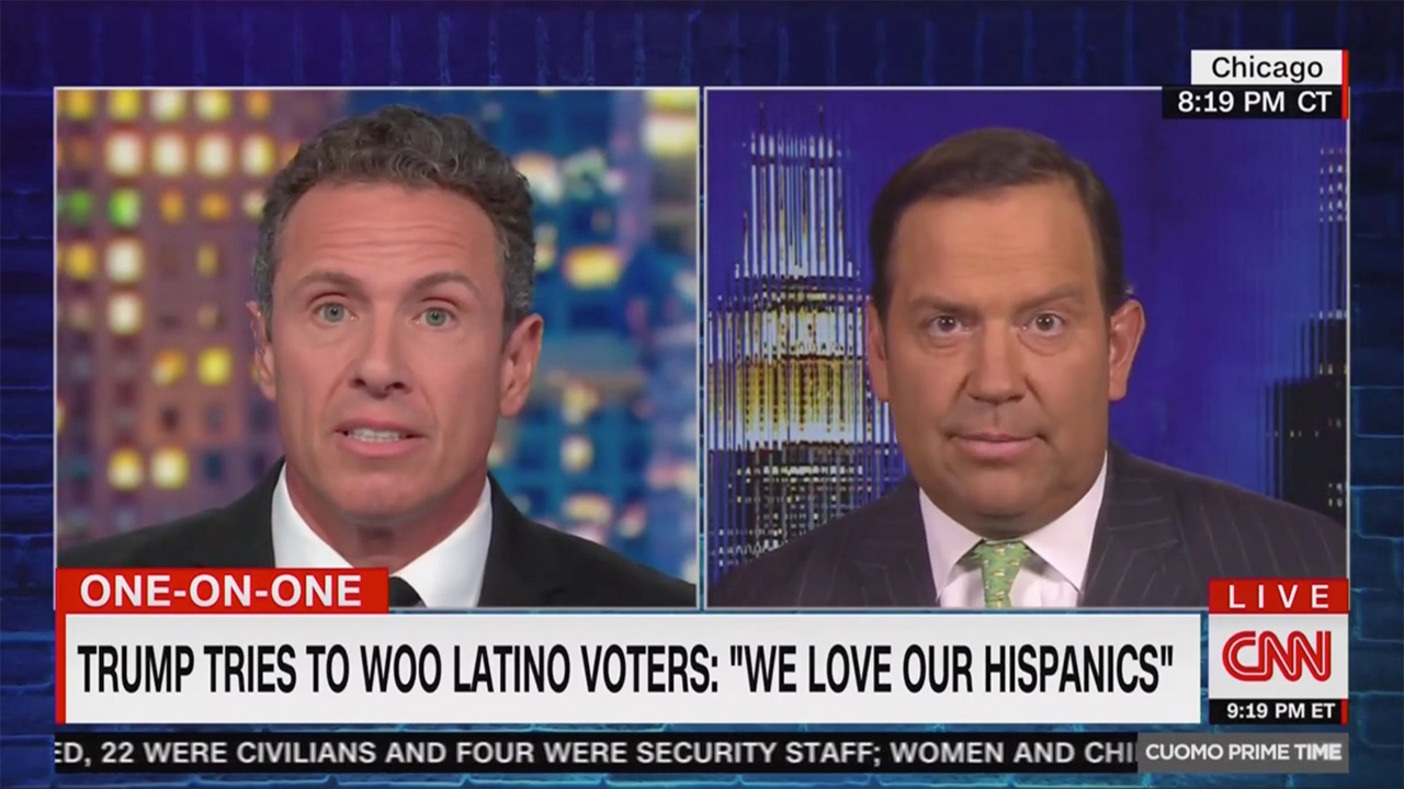 Chris Cuomo and Steve Cortes Clash Over Trump Latino Outreach: He's Shown Such 'Animosity' and Said 'Bigoted Things'!