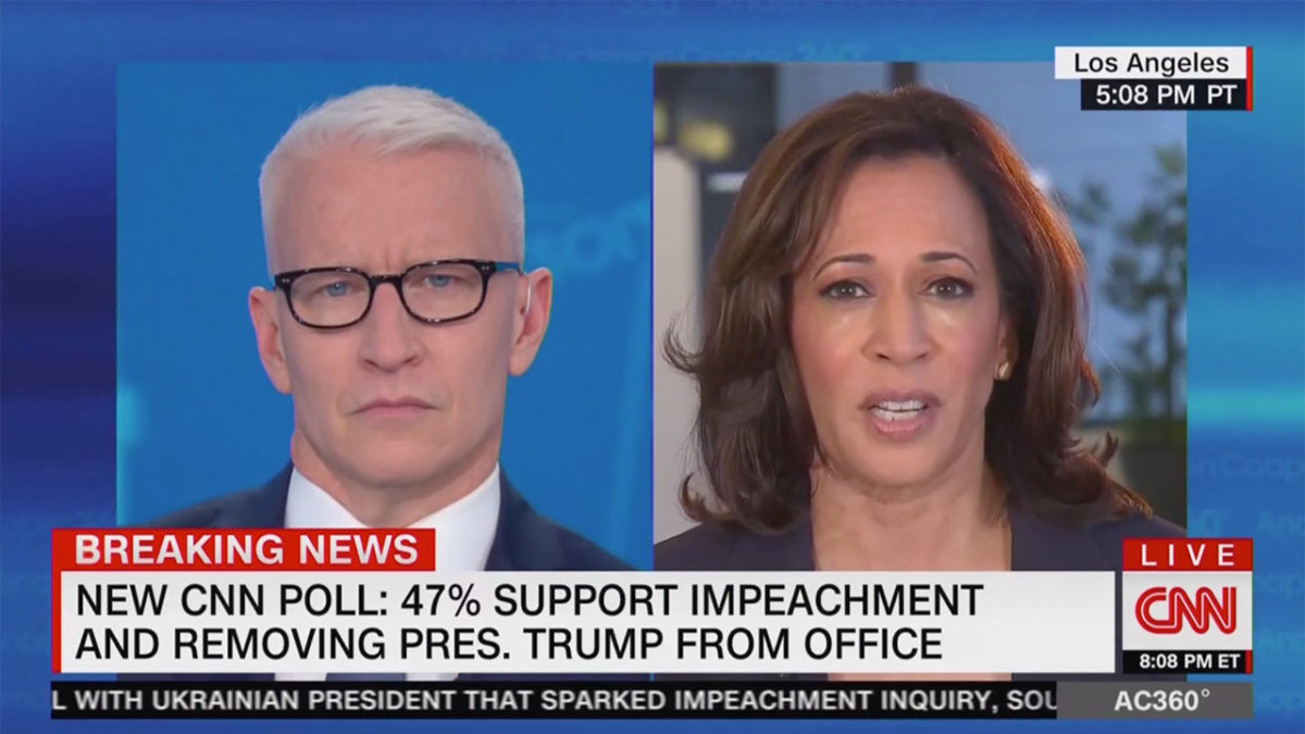 Kamala Harris Rips Trump for 'Civil War' Tweet: 'Delusional' to Compare Impeachment to War Over Slavery