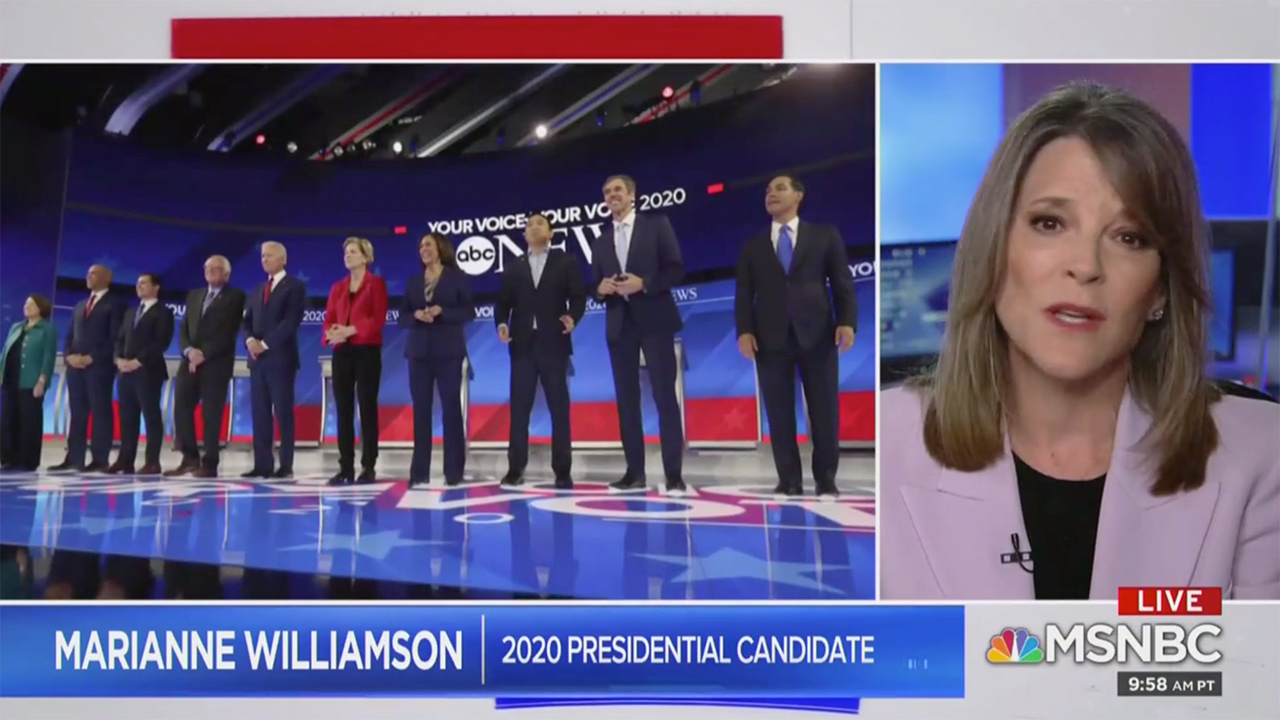 Marianne Williamson: Debate Wasn't 'Exciting,' Many Dems Likely Watched and Realized 'We Might Be in Trouble'