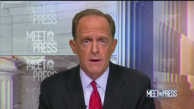 GOP Sen. Pat Toomey: 'Not Appropriate' If Trump Asked for 'Assistance from a Foreign Country'