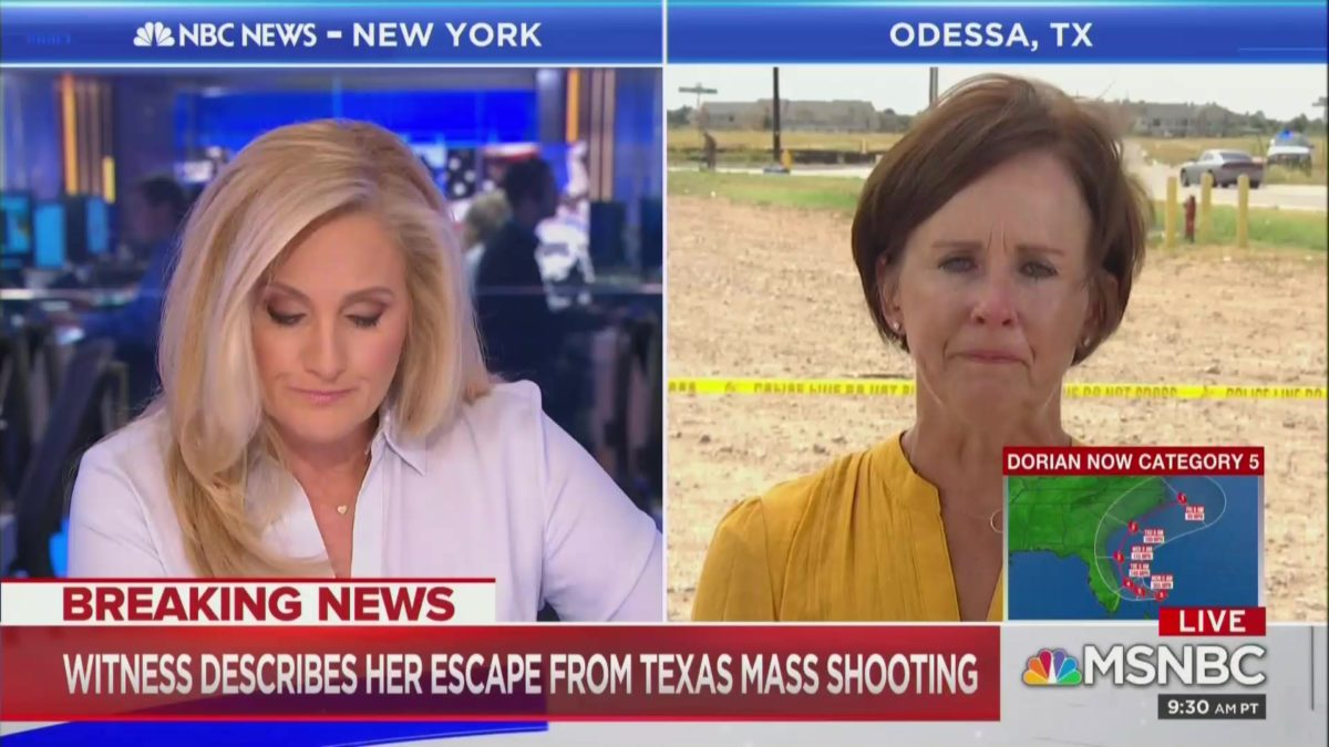Interview with Witness of Odessa Shooting Leaves MSNBC Anchor in Tears: 'God Bless You and Your Family'