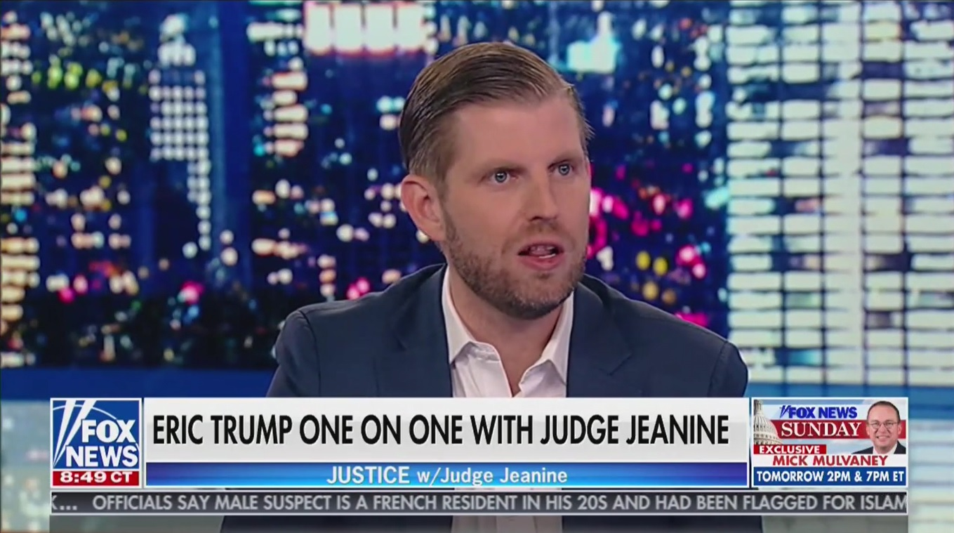Eric Trump: 'Why Is It That Every Family Goes Into Politics and Enriches Themselves?'
