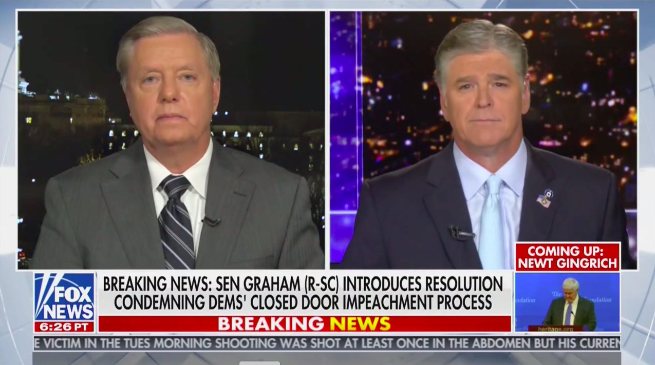 Lindsey Graham Plans to Introduce Resolution Condemning 'Illegitimate' House Impeachment: 'Should Be Dismissed in Senate Without a Trial'