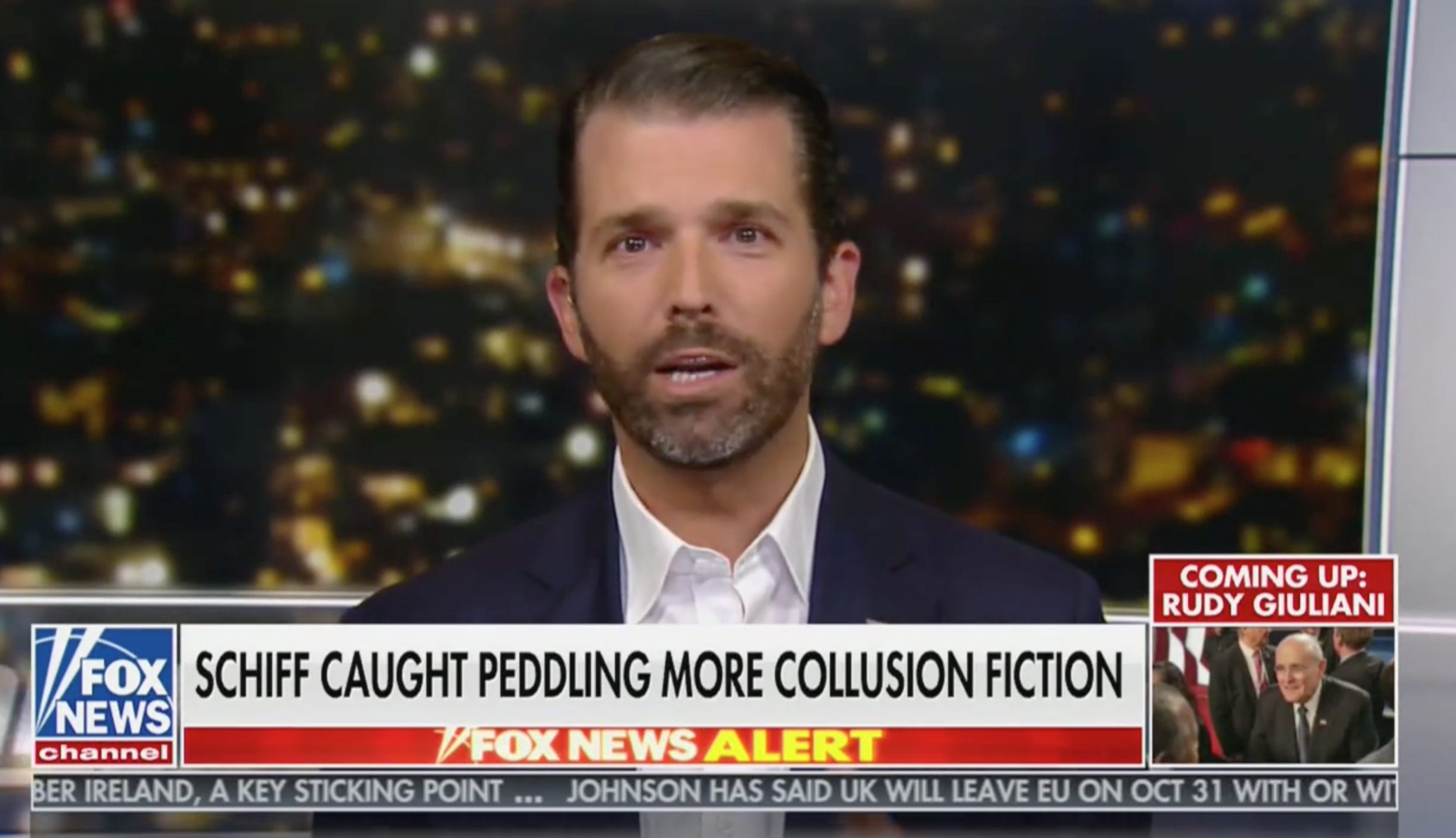 Don Jr. Rages at Adam Schiff in Diatribe on Hannity: He's 'Jussie Smollett … On Steroids'