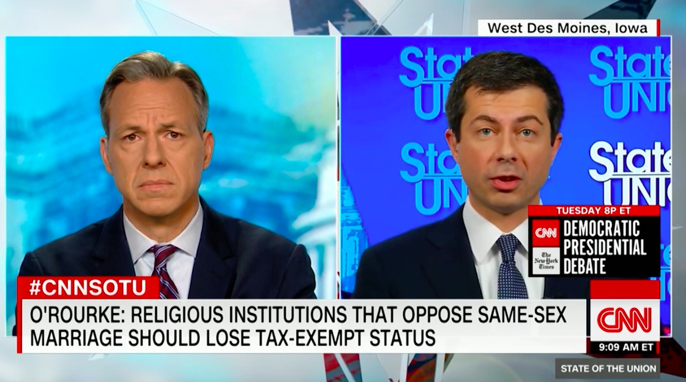 Buttigieg Rips O'Rourke Policy on Taxing Places of Worship For Discriminating Against LGBTQ People: Not Sure He 'Understood the Implications'