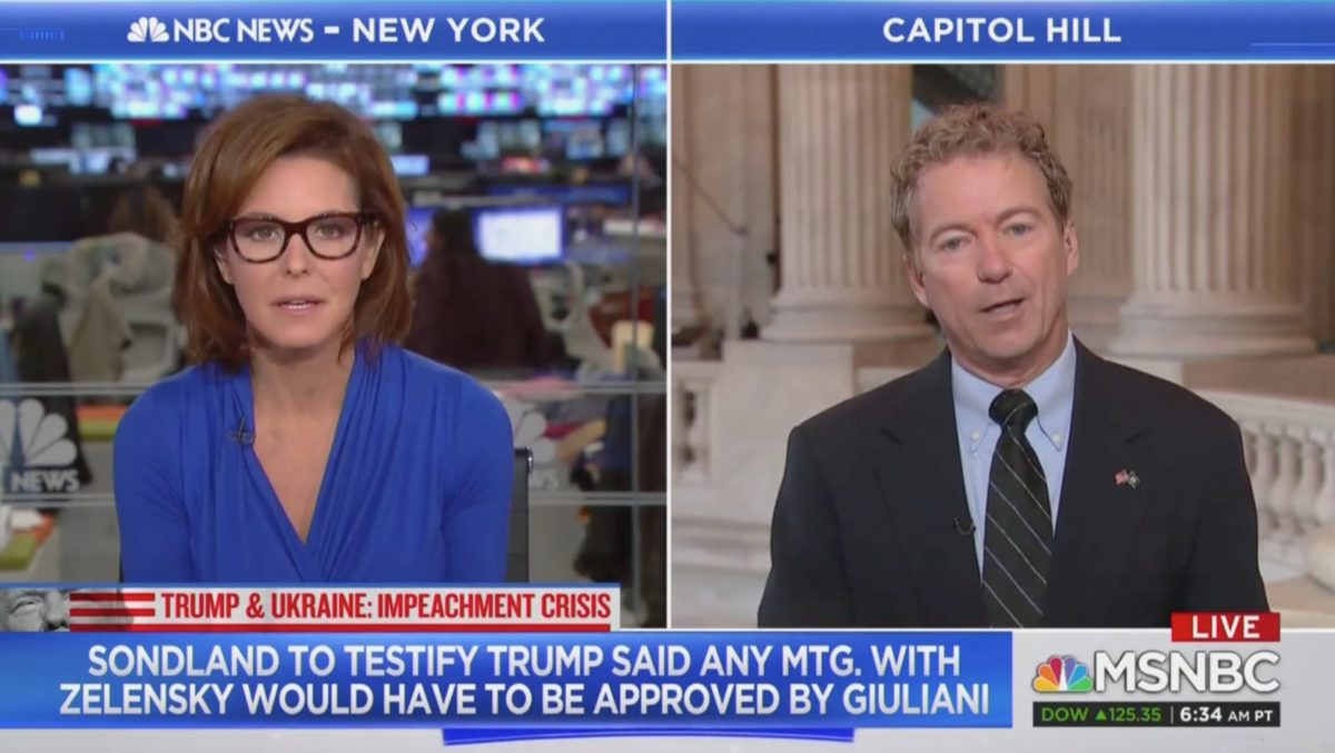 'Giddyup!' Steph Ruhle Grills Rand Paul on Investigating Trump's Kids in the Same Manner as Hunter Biden