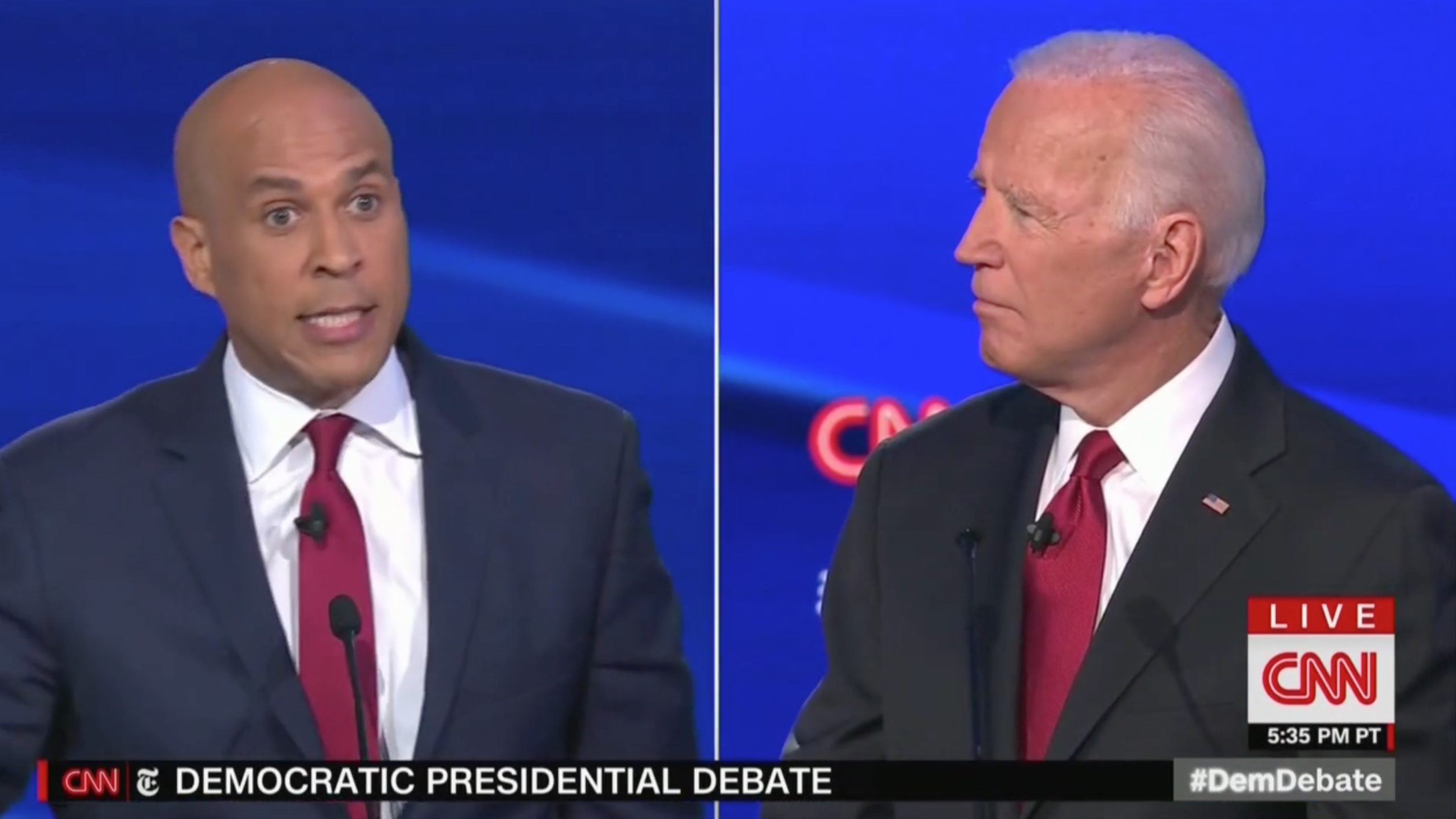 Booker Rips Debate Moderators for Grilling Biden on Ukraine: You Are 'Attacking a Statesman! That Was So Offensive!'