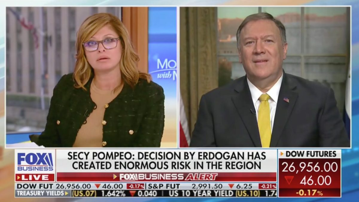 Pompeo Squirms Under Brutal Questioning From Maria Bartiromo on Syria: Does This Make Israel Less Safe?