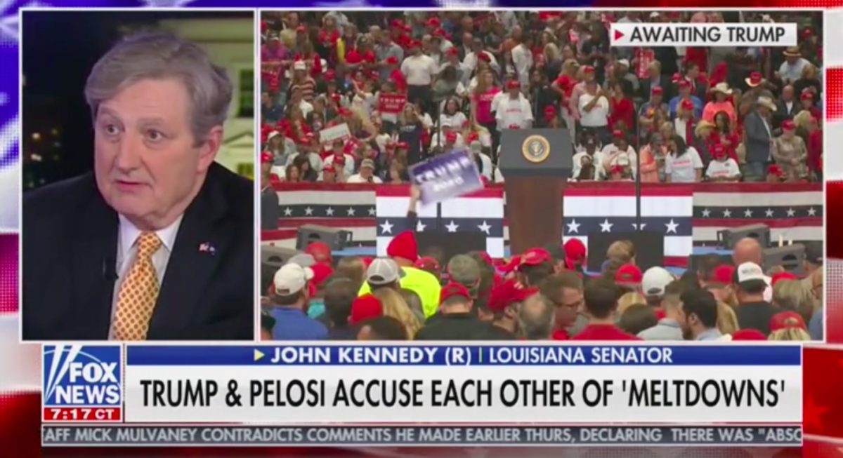 GOP Sen. John Kennedy to Trump: Don't Deal With Nancy Pelosi, She's a 'Fool'