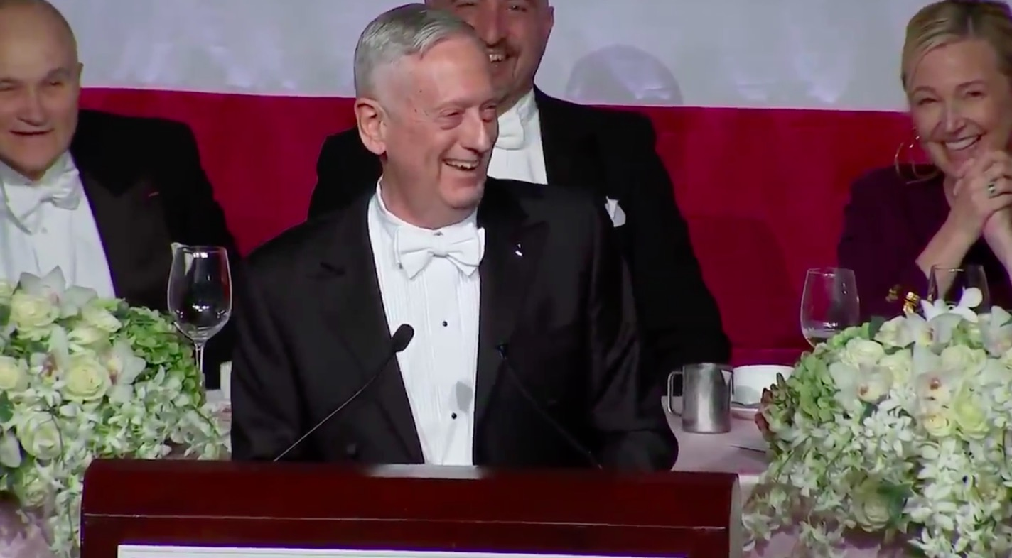 WATCH: James Mattis Roasts Trump for Calling Him the 'Most Overrated General' in Rollicking Comedy Set
