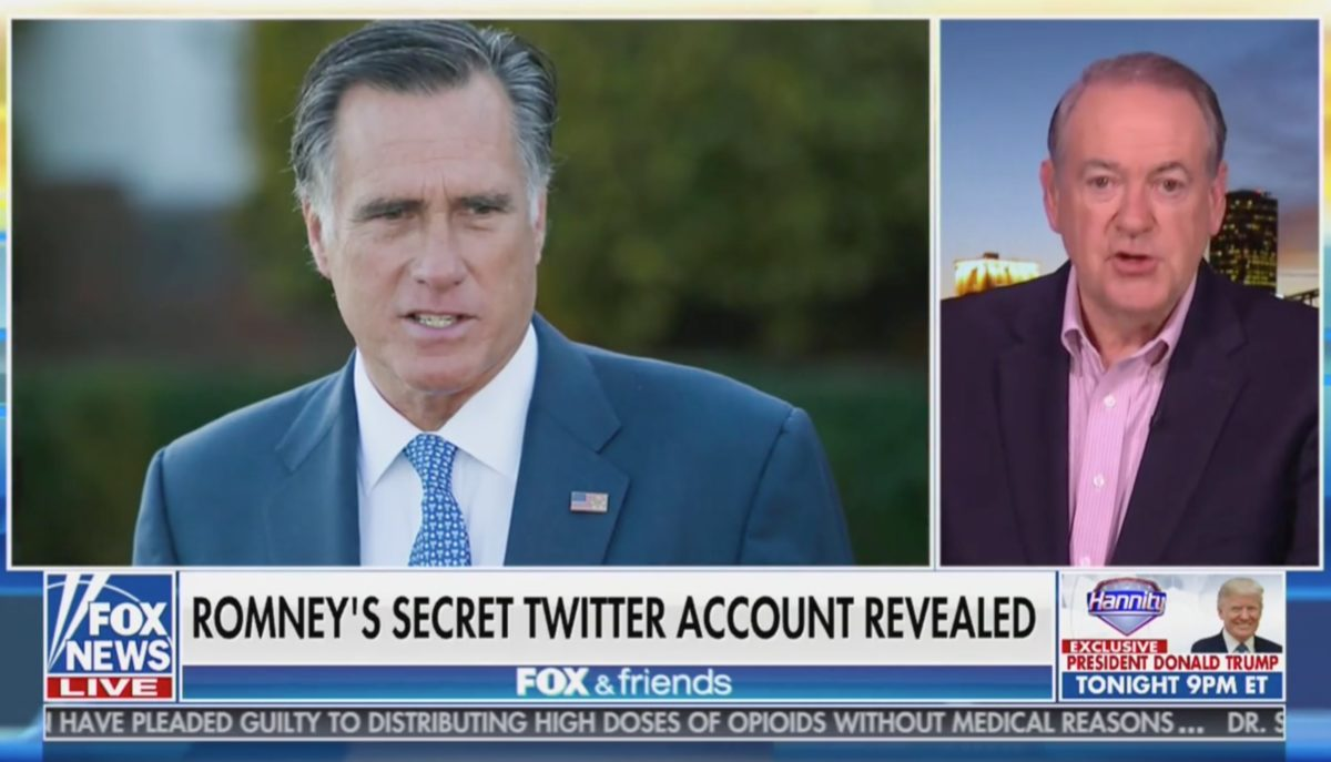 Mike Huckabee Compares Mitt Romney to 'Perverts Like Carlos Danger' For Secret Twitter Account