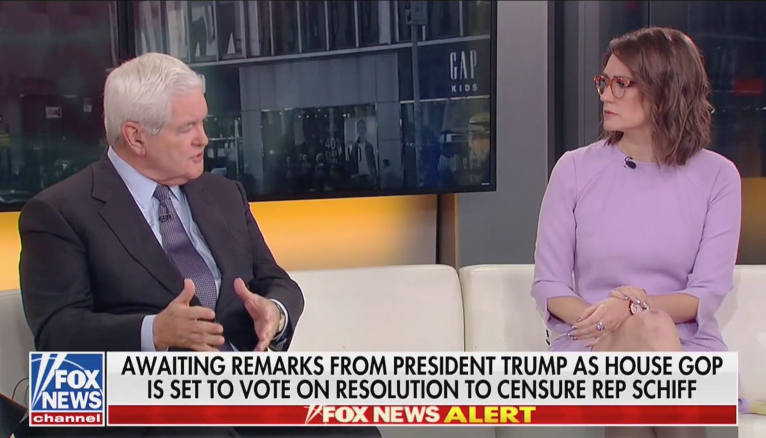 Newt Gingrich Refuses to Answer if Trump Abused Power in Clash With Fox's Tarlov: 'This is Insane'