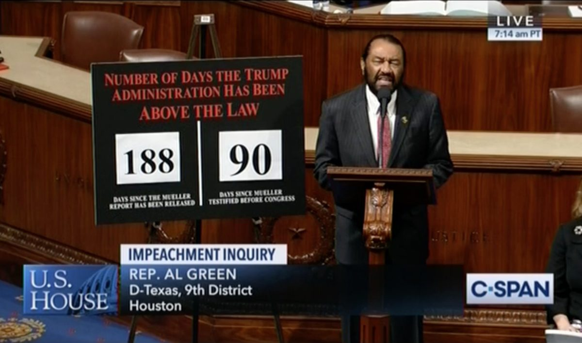 Rep. Al Green Condemns Trump in Stunning Speech: Weaponizing Racism 'Makes You No Better Than Those Who Burned Crosses'