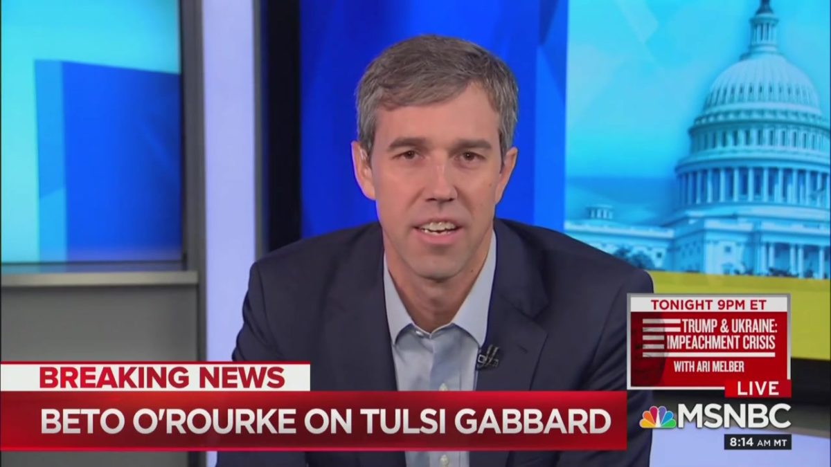 Beto O'Rourke Defends Tulsi Gabbard, Says Trump is the 'Russian Asset in the White House'