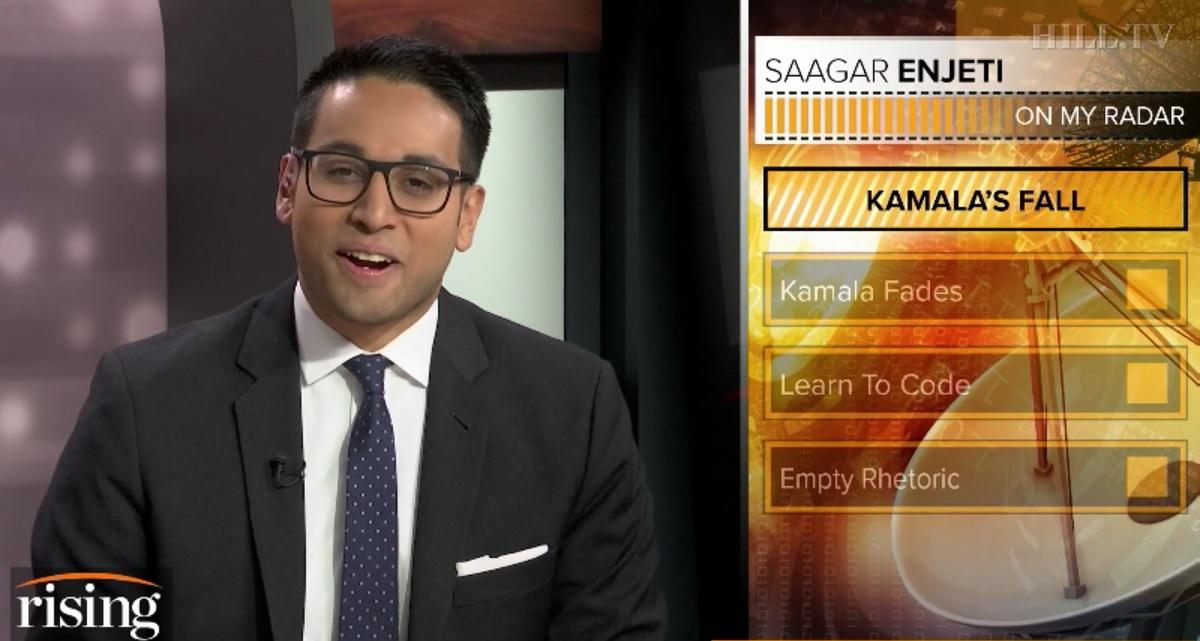 HillTV's Saagar Enjeti Claims 'Death Knell' for Kamala Harris, Accuses Her of 'Groveling' for Biden VP Slot