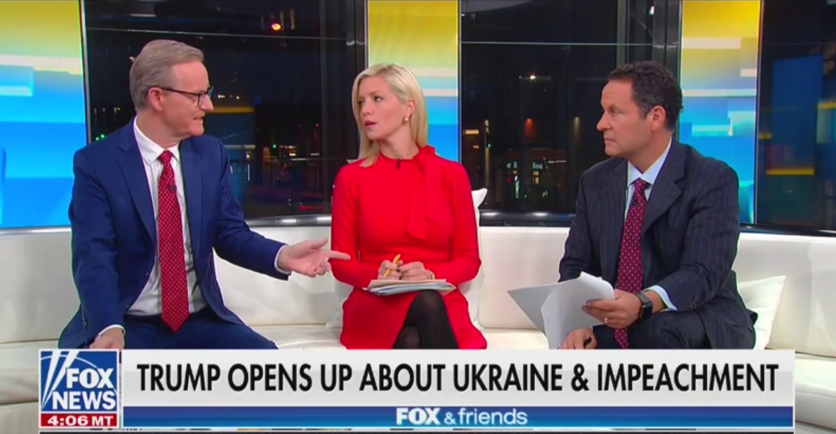 Ainsley Earhardt Reminds Fox & Friends's Viewers That a Majority Support Trump Impeachment Inquiry
