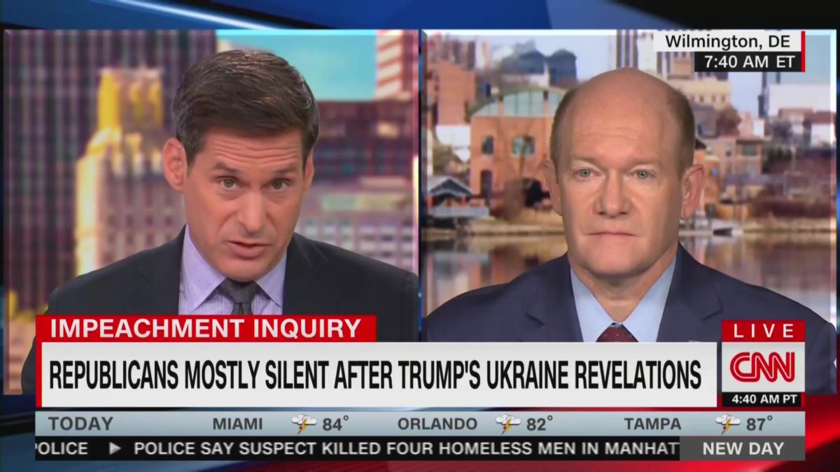 Dem Sen. Chris Coons Calls Out GOP Sen. Ron Johnson For Attacking CIA, FBI: 'My Jaw Was on the Floor'